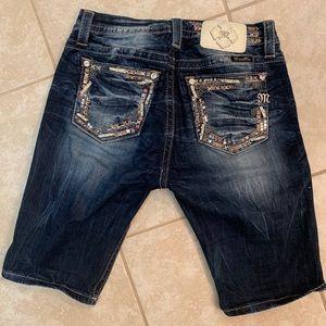 Miss Me Curvy Bermuda Shorts